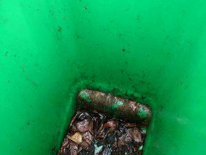 Wheelie bin before